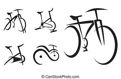 fahrrad, gesundheit, zyklus, ausrüstung