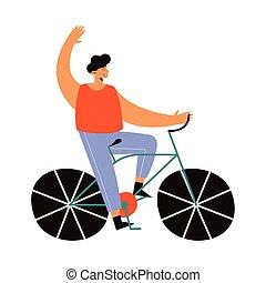 fahrrad, mann