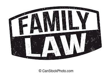 familie, gesetz, zeichen, briefmarke, oder
