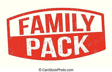 familie, satz, oder, zeichen, briefmarke