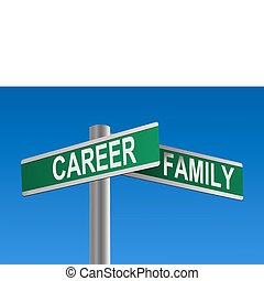 familie, vektor, karriere, kreuzung