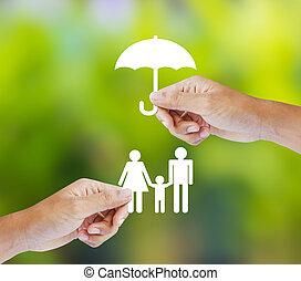 Familie, Versicherungskonzept.