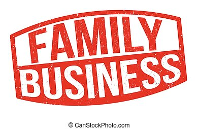 familie, zeichen, briefmarke, oder, geschaeftswelt