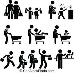Familien-Shopping Shopper-Verkauf