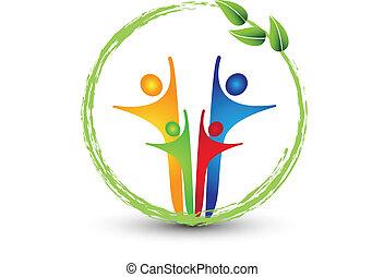 Familien- und Ökologiesystem-Logo