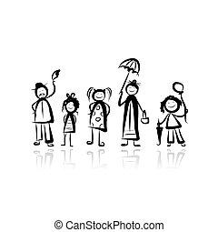 Familienfeier, Skizze für dein Design