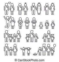 Familiensymbole.