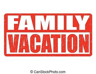 Familienurlaubsmarke.