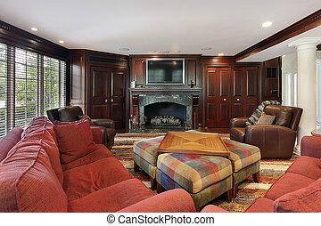 Familienzimmer mit Kirschholzschrank