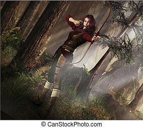 Fantasy Bogenschütze