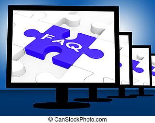 FAQ auf Monitoren zeigt häufig, dass sie gefragt werden