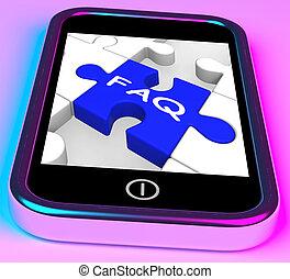 FAQ auf Smartphone zeigt Unterstützung