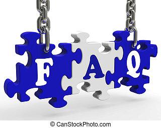 FAQ bedeutet, dass oft Fragen gestellt werden