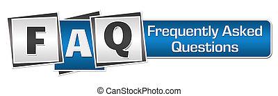 FAQ Blue Grey Squares Bar.
