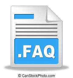 Faq-Datei zeigt häufig gestellte Fragen und Verwaltung.