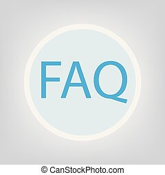 FAQ (Frequently asked questions) acronym.
