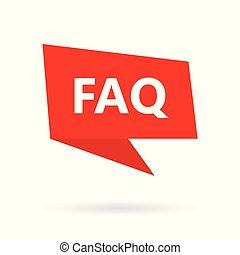 FAQ (Frequently asked questions) on speach bubble.