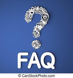 FAQ-Konzept.