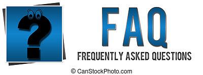 FAQ mit Fragezeichen