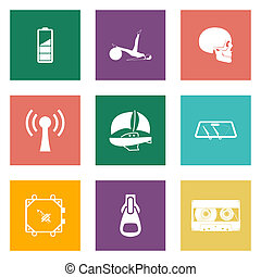 Farb-Icons für Web-Design Satz 3