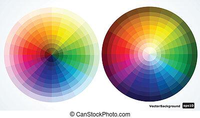 farbe, abbildung, vektor, wheels.