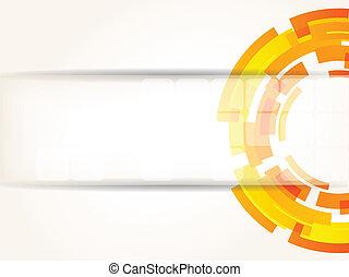 farbe, abstrakt, hell, technologie, hintergrund, orange