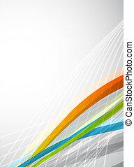 farbe, abstrakt, vektor, lines., hintergrund