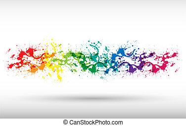 farbe, farbe, spritzer