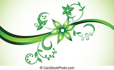 farbe, hell, vektor, grüner hintergrund