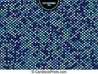 farbe, muster, punkte, seamless, schwarz, hintergrund., abstrakt, blaues