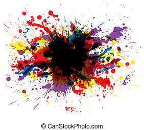 Farbe spritzt
