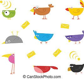 farbe, vögel