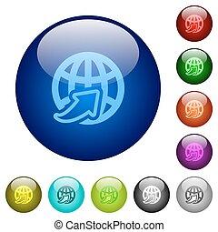Farben weltweit unterstützen Glasknöpfe.