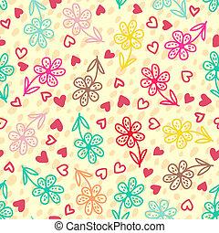 Farbige Blumen, nahtlose Muster.