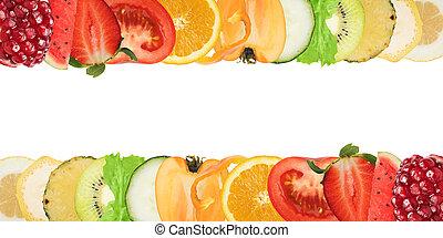 Farbige Fahne der Früchte