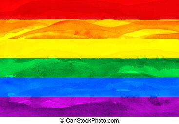 Farbige Flagge von Homosexuell (Pride)