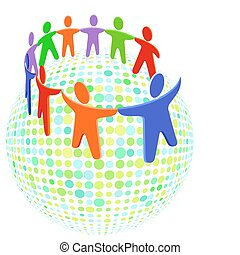 Farbige Gruppensolidarität