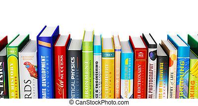 Farbige Hardcover-Bücher.