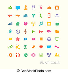 Farbige Interface-Icons.
