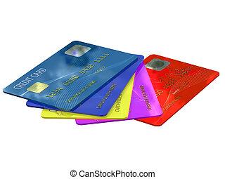 Farbige Kreditkarten
