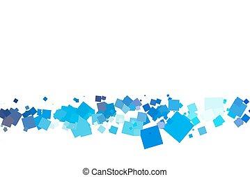 Farbige Quadrate auf weißem Hintergrund.