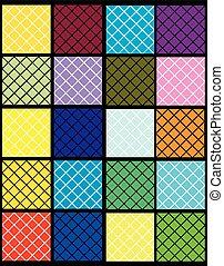 Farbige Quadrate.