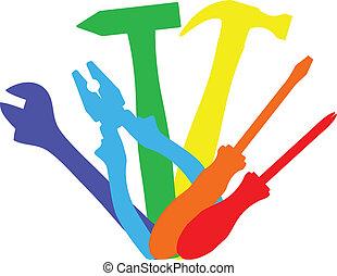 Farbige Werkzeuge