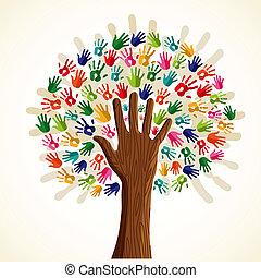 Farbiger multiethnischer Baum