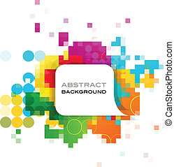 Farbiges abstraktes Banner