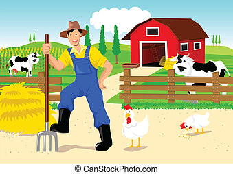 Farmer in Cartoon