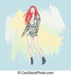 Fashion Models Sketch.