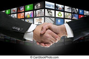 fernsehapparat, alter, kanäle, hintergrund, digital, zukunftsidee