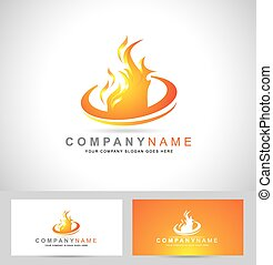Feuerflammen-Logo