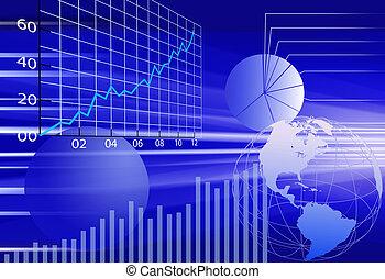 Finanzdaten der Geschäftswelt abstrakter Hintergrund